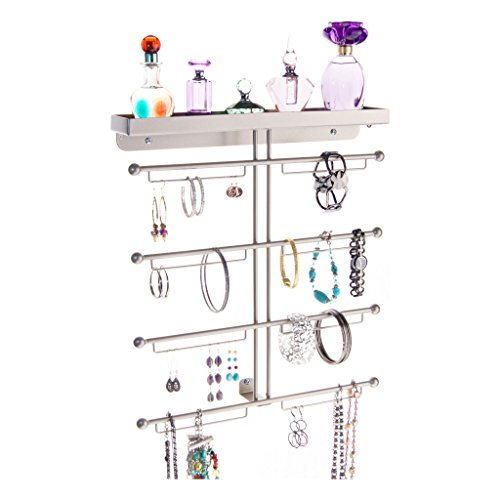 Jewelry Organizer Hanging Earring Holder Wall Mounted Bra...
