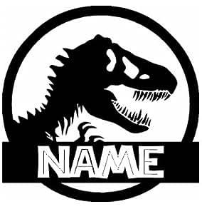 T-Rex Jurassic Park - Personalizado con su nombre Negro