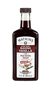 Watkins Original Gourmet Baking Vanilla Extract, with Pure Vanilla Extract, 11 Ounce (Packaging may vary)