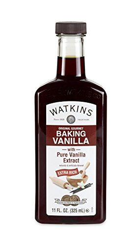 (Watkins Original Gourmet Baking Vanilla Extract, with Pure Vanilla Extract, 11 Ounce (Packaging may)