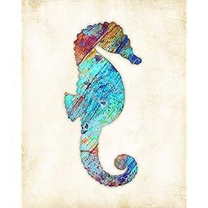 41juRK2zOYL._SS300_ Seahorse Wall Art & Seahorse Wall Decor