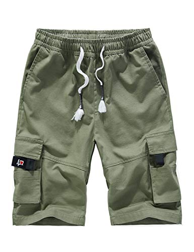 APTRO Men's Cargo Shorts Relaxed Fit Multi-Pockets Casual Cotton Cargo Short Army Green -