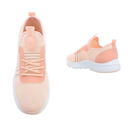 Rose Clair design Femme Pour Baskets Ital 4RgwFxY4