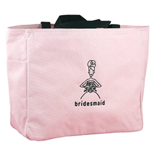 Pink Tote Bag - Bridesmaid -Set of 5 by HBH