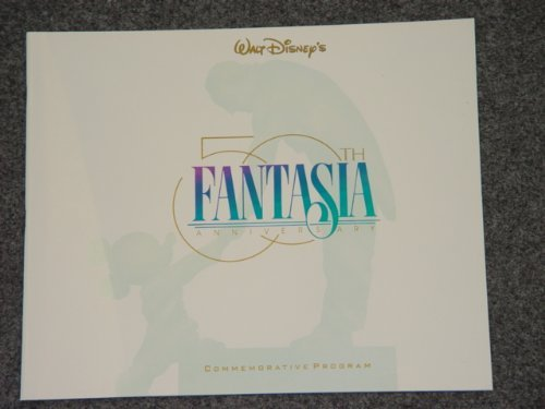 Walt Disney's Fantasia Animation Movie Commemorative Program Book Limited Edition (Walt Books Disney Autograph)