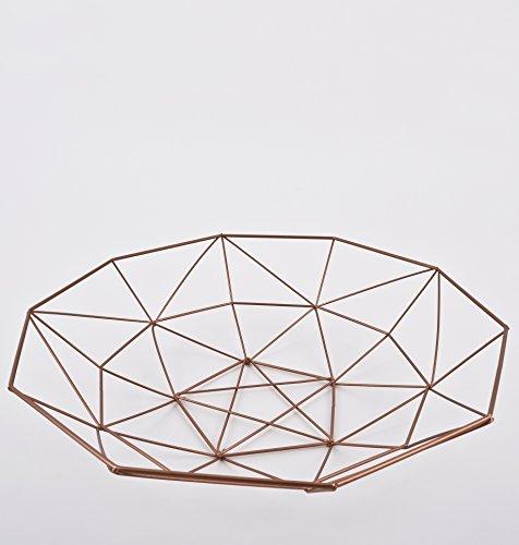 Schale rund Draht Design Metall kupfer Deko (8x33x33cm)