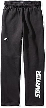 Starter Boys' Open-Bottom Logo Sweatpants with Pockets, Amazon Exclu