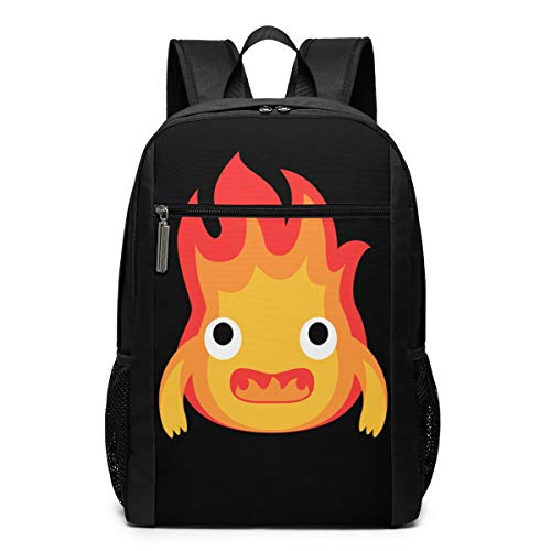 HEPPARD Howl's Moving Castle Calcifer Fire Cute Backpack For Unisex Shoulders Bag