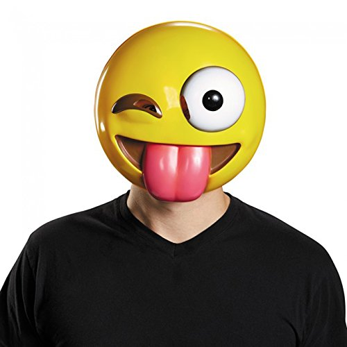 Disguise Tongue Emoticon Adult Mask