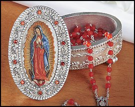 Gifts of Faith Milagros Our Lady of Guadalupe Rosary Box, St. Mary, Patron Saint of (patronage) Patronage: Americas, Central America, Mexico, Tennessee, New Mexico, New World, Puerto Vallarta, Mexico, California, Spain