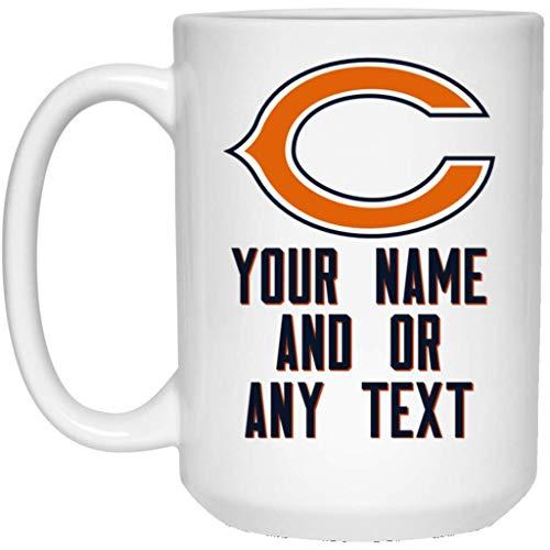 Custom Personalized Chicago Bears Coffee Mug | Bears Mug | 15 oz White Ceramic Mug Cup | NFL NFC National Football League | Perfect Unique Gift For Any Chicago Bears Fan!