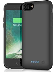 AOPAWA Battery Case for iPhone 6/6s/7/8, Upgraded [6000mAh] Charging Case Rechargeable Battery for iPhone 8/7/6s/6 (4.7 inch) Backup Extended Battery Charger Case - Black