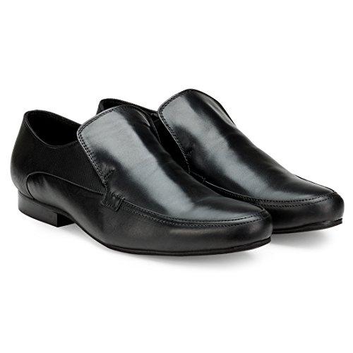 Escaro Men's Leather Formal Slip On Shoe 11 Black by Escaro (Image #1)