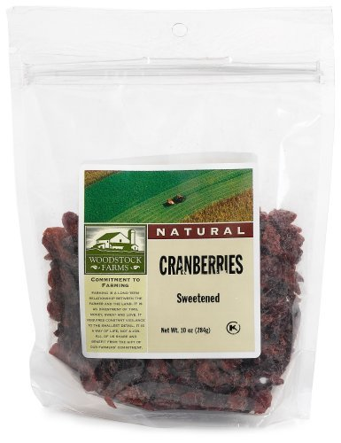 Woodstock Farms All Natural Sweetened Cranberries, 8.5 Ounce - 8 per case.