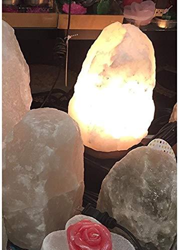 Hand-cut Pure Natural Organic Himalayan Salt Lamp Rock shape 4-6 lb White Rock Rare Salt