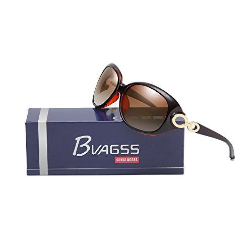 De Clásico WS033 De Polarizadas Frame Brown De UV400 Mujer Estilo Brown Lens Para BVAGSS Gafas Moda Sol fzYwwSq