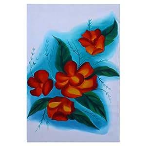 GrandUAE Canvas Multi Color Painting - Flowers
