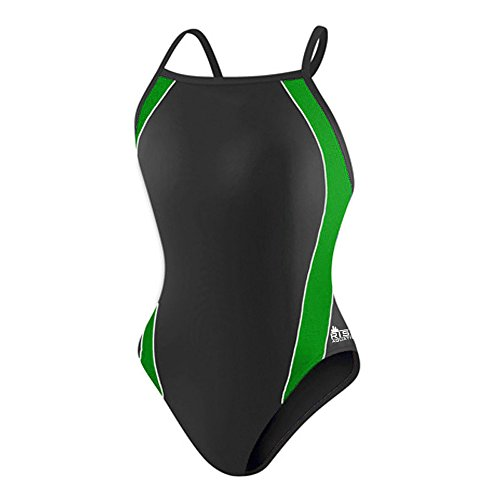Rise Solid H-Back Poly Splice (30, Black/Green)