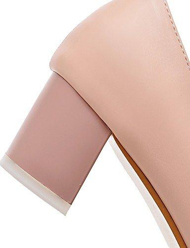 GGX/ Damen-High Heels-Büro / Lässig-PU-Blockabsatz-Spitzschuh / Komfort-Blau / Rosa / Weiß pink-us6 / eu36 / uk4 / cn36