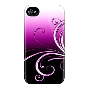 Durable Protector Cases Covers With Purple Heart Scroll Hot Design For Iphone 6plus