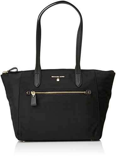 MICHAEL Michael Kors Women's Nylon Kelsey Medium Top Zip Tote - Black