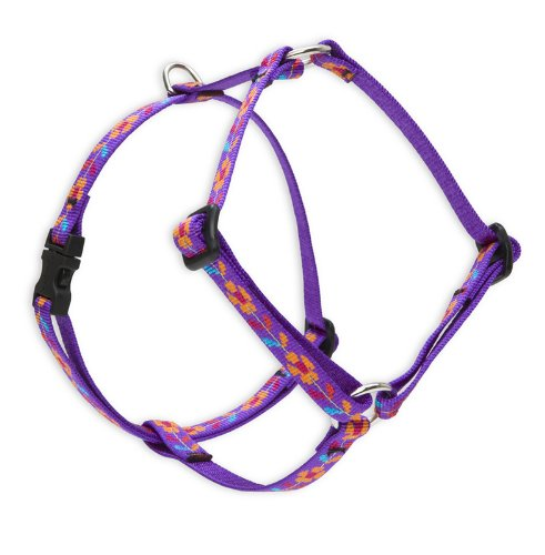 "LupinePet Originals 1/2"" Spring Fling 12-20"" Adjustable Roman Dog Harness for Small Dogs"