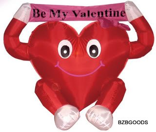 4 Foot Valentine's Inflatable Lovely Heart