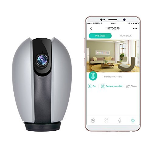 (KZUXUN Home Security Camera 720P Wireless IP Camera with Motion Detection / 2 Way Audio and Night Vision/TF Card Record with Baby Monitor)