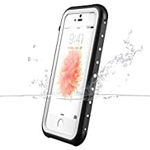iPhone SE Waterproof Case, iThrough® iPhone SE/5S/5 Waterproof Underwater Case Proof, Shock Heavy Duty Protective Carrying Case Cover for iPhone SE 5S 5 (White)