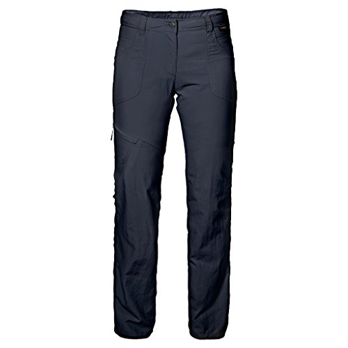 Pantalones enrollables de mujer Jack Wolfskin Marrakech, azul medianoche, talla 46 (US 35/32)