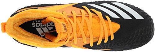Adidas Menns Freak X Karbon Midten Fotballskoen, Core Svart / Hvit / Gull, 17 M Oss