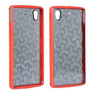 T-Mobile Astro Case for Sony Xperia Z1s - Clear Gray and Red - T Mobile Xperia Z1s Cases