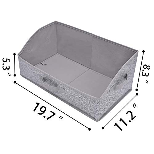GRANNY SAYS Closet Storage Bins, Extra Large Storage Baskets, Closet Shelf Organizer, Storage Clothing Bins with Handles, Gray, 3-pack