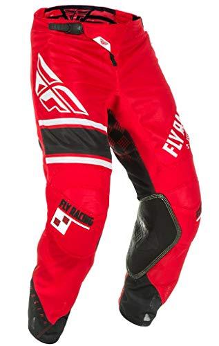 Mesh Pants Kinetic - Fly Racing Men's Kinetic Mesh Era Pants Red/White/Black Size 32
