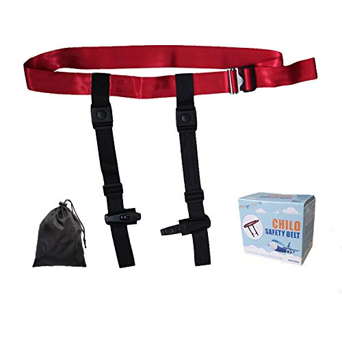 Child Airplane Travel Harness by TEMEAYE, Aircraft Safety Travel Clip Strap, Seat Belt, Baby, Kids and Toddlers Restraint System with Pouch Bag- Strictly for Aviation Travel Only, FAA Approved