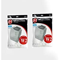 4 bags (2pk) Hoover Type W2 Windtunnel Upright Vacuum Hepa Paper Bags # 401080W2
