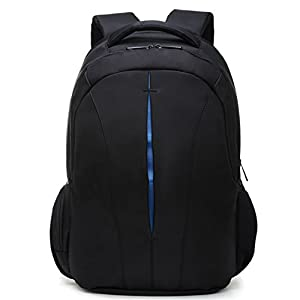 waterproof 15.6inch laptop backpack men backpacks for teenage girls travel backpack bag women male+Free gift Black and Orange USB