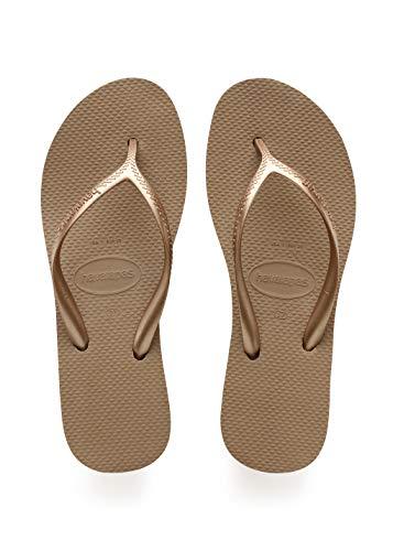 - Havaianas Women's High Light Flip Flop Sandal,Rose Gold, 41/42 BR(11-12 M US Women's / 9-10 M US Men's)