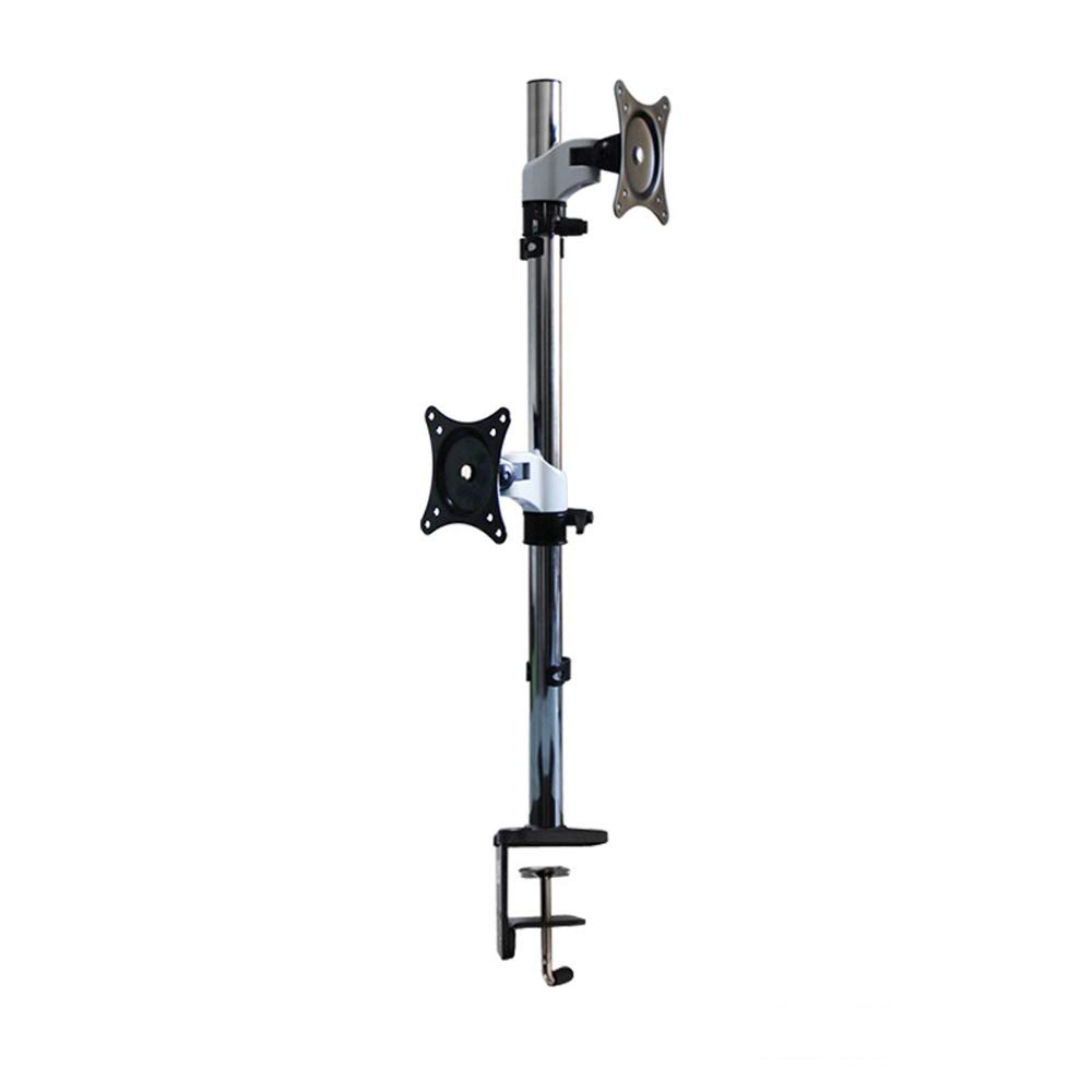 JL Dual-Screen LCD Computer Monitor Bracket Upper and Lower Desktop Base Multi-Directional Lifting Rotary Display Bracket A+ (Color : A) by Monitor Stand