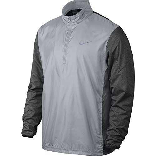 Golf Wind Jacket (Dallas Cowboys Nike Golf Half-Zip Shield Jacket,Wolf Grey/Charcoal Heather/Wolf Grey,Medium)