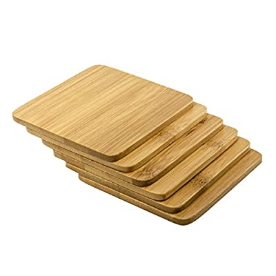 Bamboo Coasters for Drinks - 6pcs Set - by Molpal