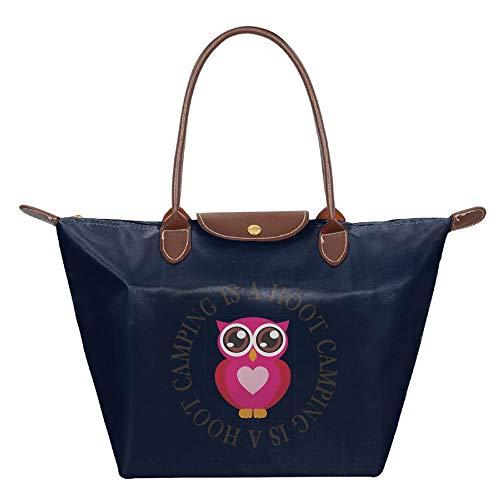 Dianqusha Camping Is A Hoot Owl Folded Messenger Nylon Bag Dumplings Travel Tote Hopping Folding School Handbags (Factory Wholesale Handbag)