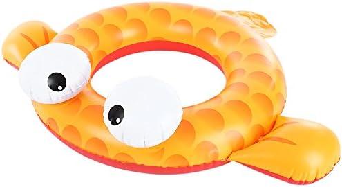 Wenquan,Barco Inflable del Flotador de Seat de la Piscina del bebé del Anillo del Goldfish al Aire Libre(Color:Amarillo)