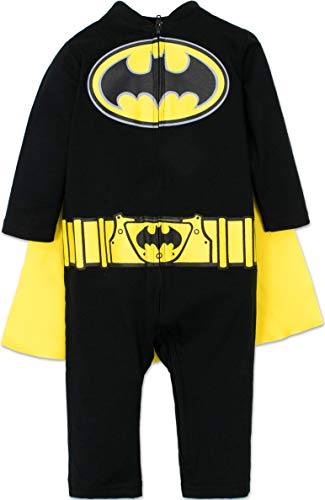 Warner Bros. Batman & Superman Baby Boys' Costume Coveralls with Cape]()