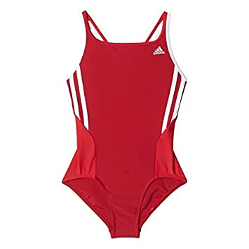 the best attitude 7c1fe f08b1 Adidas Junior BTS 1PC 3S KG Swimsuit - Power Red  Ray Red Size 1-