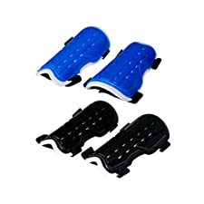 OutMall Youth Child Soccer Shin Pad, 2 Pair Perforated Breathable Soccer Shin Guards Board Perfect Fit for 6-12 Years Old Kids, Teenagers, Boys, Girls Football Games Leg Calf Protective Gear
