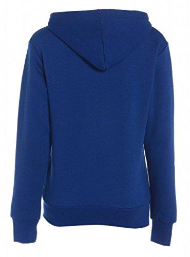 Manteau capuche Femmes royal Vtements Royal Veste Sweatshirt Bleu Zip Blue Lona plaine Toison dames GG xpwZvqXZ
