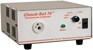 "product image for Tel-Tru CS4-F80-310 Check-Set Iv Thermometer Calibrator,40-150-161-175 Degree Fahrenheit, 3 Hole 0.125""/0.187""/0.250"" Well Insert, Nist Traceable, 3 Probe Diameter Holes 0.125""/0.187""/0.250"", Stainless Steel Housing, 120 vac"