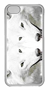 iPhone 5C Case, Personalized Custom Wolf 6 for iPhone 5C PC Clear Case