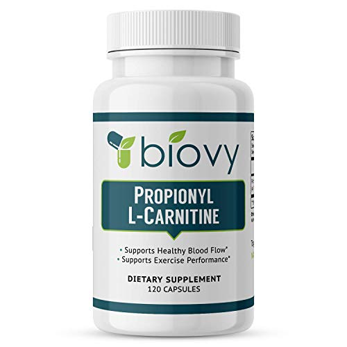 High Absorption Propionyl-L-Carnitine (PLCAR) by BiovyTM - No Artificial Fillers - Effective Propionyl L Carnitine HCL Supplement to Support Blood Circulation - 120 Capsules